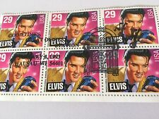 Elvis Presley 1993 Mint Vintage Postage Stamps Block Of Six