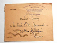 1939 WW2 ERA OLD FRENCH STAMPED COVER - PARIS -