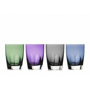 WATERFORD W Collection Assorted Colors Tumblers Set of 4 # 40029457 New