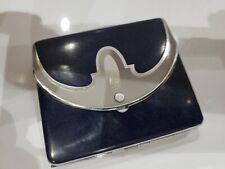 Antique Art Deco / Tri Fold Enamel Cigarette Case American Metal Work / USA Made