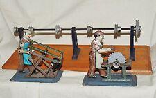 Blechspielzeug 2 Antriebsmodelle + Transmission, US Zone Germany, Dampfmaschine
