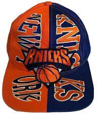 Rare New York Knicks Orange/Purple Embroidered Vintage Snapback Hat Cap