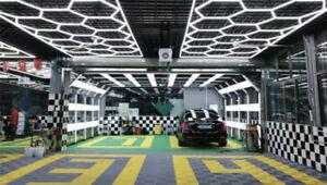 NEW Hexagon Garage Workshop Detailing Wall Or Ceiling Lights 6_sided_lights