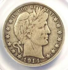 1914 Barber Half Dollar 50C - ANACS F12 Details - Rare 1914-P - Certified Coin!