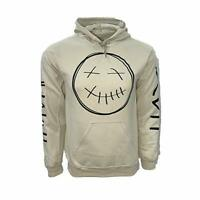 NWT Travis Scott Hoodie Dead Smiley Face with Name on Sleeves and La Flame Desig