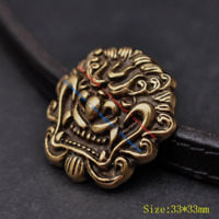 10X 33mm Solid Brass Chinese Dragon Head Conchos Screw Back Leather Craft Decor