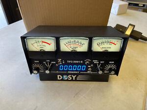 Dosy TFC-3001S 1,000 Watt SWR/Mod/Peak/AM Watt Meter w/ Frequency Counter CB LED