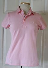 $90 NWT Womens Ralph Lauren Golf Tailored Fit Pony Logo 1/4 Zip Polo Shirt Pink