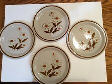 "Old Brook Stoneware Dinner Plates 10.5"" Trailwoods Dishwash Microwave Set Of 4"