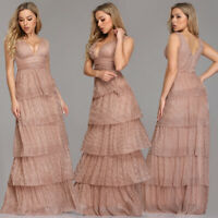 Ever-pretty Long Blush Women Prom Ball Gown Evening Cocktail Party Dresses 07766