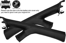 BLACK STICH 2X A PILLAR LEATHER COVERS FITS VW VOLKSWAGEN CADDY MK3 2K 05-15