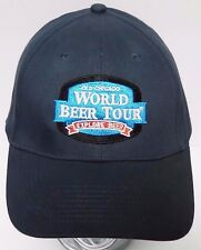 OLD CHICAGO World Beer Tour EXPLORE BEER Advertising ADJUSTABLE Navy HAT CAP