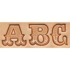3/4 inch (19.0 mm) LEATHER ART ALPHABET STAMPING SET  by TANDY _ FREE SHIPPING!