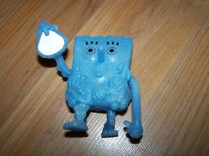 Spongebob Squarepants Blue Ghost Burger King PVC Toy 2007 EUC