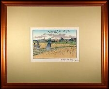 Henri RIVIERE - Le Bourg des Perros-Guirree Color Lithograph from 1896