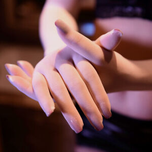 Sexy Lace Seamless Sheer Long Gloves Long Finger Glove NightClub Costume Gloha