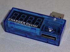 USB POWER CHARGER TESTER VOLTAGE AMPERAGE AMP METER VOLTMETER DIGITAL DISPLAY