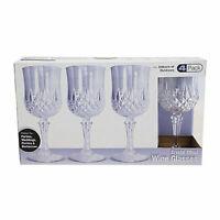 4Pcs Vintage Crystal Wine Glasses Plastic Picnic Marine Acrylic Garden Goblet