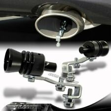 2X Turbo Sound Fake Blowoff BOV Simulator Exhaust Muffler Pipe Black Whistle L