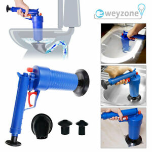 Air Pump Drain Blaster Sink Plunger Bath Toilet Blockage Remover Unblocker