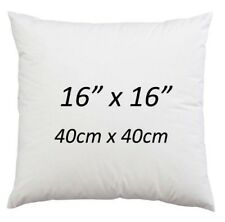 """16"""" x 16"""" Cushion Pads Hollowfibre NonAllergic Cushion Inserts 16 Inch-Pack of 4"""