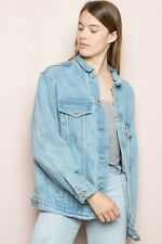 Brandy Melville Oversized Light Wash Kelly Denim Jacket NWT M