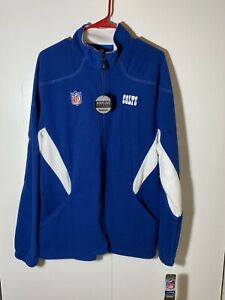 NWT - Indianapolis Colts - Reebok Full Zip Fleece Jacket - Mens Large