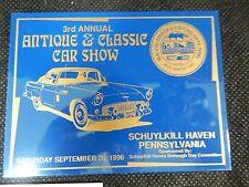 1996 PENNSYLVANIA ANTIQUE CLASSIC CUSTOM  CAR SHOW DASH  PLAQUE SIGN CHEVY FORD