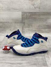 Nike Air Jordan Retro 10 X Charlotte 310805-107 Size 10.5 Grape Concord White