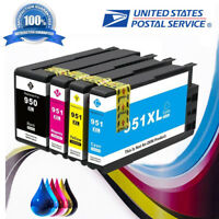 4 HP 950XL 951XL Ink Cartridge for HP Officejet pro 8100, 8610 8620 8630 Printer