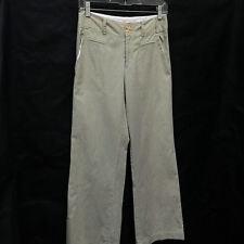 Nanette Lepore Sz 2 Pants Green White Striped Seersucker
