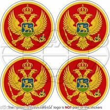 "MONTENEGRO Montenegrin Crna Gora Bumper-Helmet Stickers-Decals 2"" (50mm) x4"