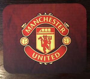 """Manchester United Mousepad Soccer/Football The Red Devils Non-Slip Pad 8.5"""" x 7"""""""