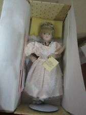 """Home Collectibles Jennifer 18"""" Porcelain Doll New In Box W/Coa 2 Outfits Mirror"""