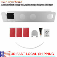 Magnetic Sliver Wall-Mounted Bracket Holder Stand Rack Fit for Dyson Hair Dryer