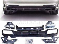 Mercedes W212 2014- E63 look Rear Difuser kit for E class AMG