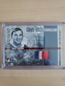Rogie Vachon 06-07 In the Game Between the Pipes Game Used Emblem