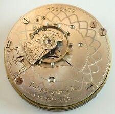 Atlas Watch C. Grade 178 Complete Running Pocket Watch Movement - Parts / Repair