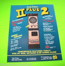 PUB TIME PLUS 2 DARTS By MERIT ORIG NOS ARCADE DART GAME PROMO SALES FLYER