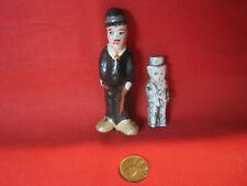 Vintage antique miniature Charlie Chaplin dolls, composition and bisque dolls