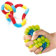 Squeezy Mesh Ball & Tangle Classic - Sensory Toy Pack -  ADHD - Fidget