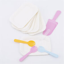 Party Favors Disposable Cake Cutlery Sets Convenient Cute Birthday Cake Tray JJ