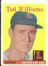 1958 Topps #1 Ted Williams Red Sox HOF EX Sharp Color & Gloss