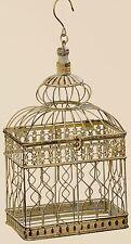 DECORAZIONE Gabbia per uccelli 37cm altezza MARRONE FERRO ANTICO stile coloniale