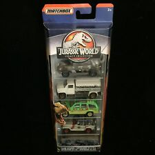 NEW Matchbox Jurassic World Park Legacy Collection 5 Pack Explorer Jeep Toy Set
