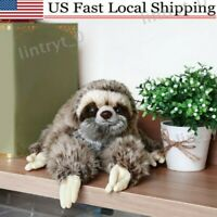 Cute Giant Sloth Stuffed Plush Doll Wild Animal Toy Kid Gift 35cm Non-toxic
