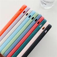 Colorful Liquid Silicone Square Case Cover For iPhone 11 Pro Max 12 Mini X XS XR