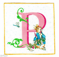 """3.5"""" Beatrix potter letter p square nursery wall safe fabric decal cut"""