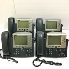 Lot 4 Cisco IP Phone 7961 Series CP-7961G w/ Handset & Stand VoIP Office Phone