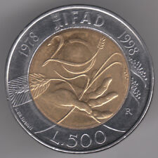 ITALIE 500 LIRES 1998 bi-metallic coin-Agricultural Development Fund